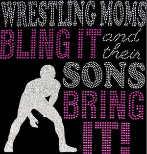 Rhinestone Wrestling Mom TShirt Bling Shirt by DesignsbyDaffy, $20.95