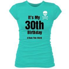 Amazon.com : 30th Birthday Blues: Custom Junior Fit Bella Sheer Longer ...