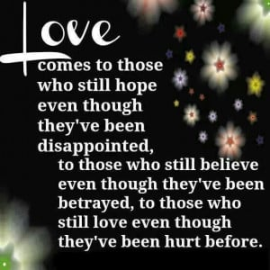 Love even after betrayal....