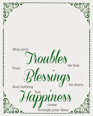 Irish Quotes About Family Irish blessing printable