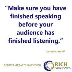 ... great inspirational public speaking quote. #publicspeaking #quotes