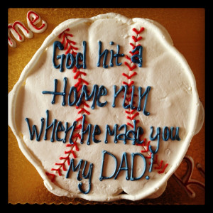 The Perfect Father's Day Cake for a Baseball Lover