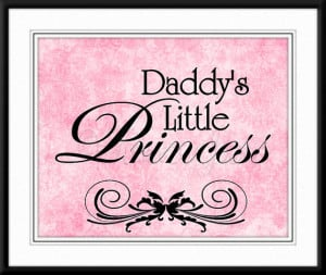 Daddy's Little Princess - Pink Nursery Decor, Quote, Shabby Chic ...