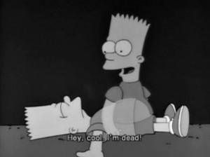 Simpsons Dead Sad Bart Episode Lol Pictures, Photos & Quotes