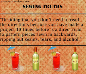Sewing Truths - Sewing Humor - Sewing Quotes