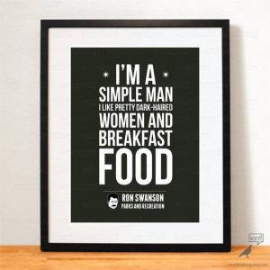 Parks and Rec Quote, Ron Swanson Breakfast foods, bacon & eggs, never ...
