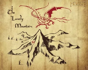 ... posters > The Hobbit posters > The Hobbit poster Lonely Mountain logo