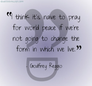 Think It's Naive For Pray For World Peace