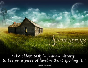 Aldo Leopold Quote. Environmental Quotes. From www.SilentSprings.com