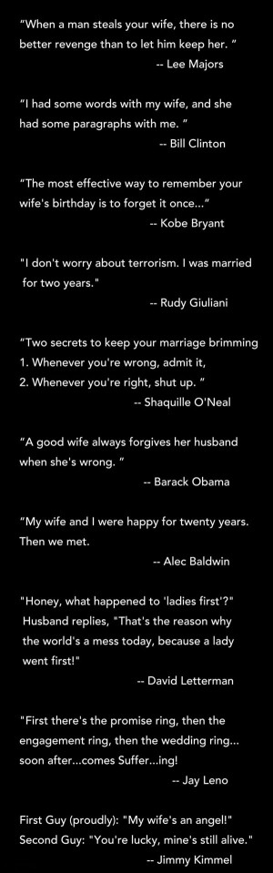 Quotes about marriage and relationships by men...