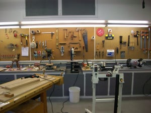 Nick Offerman Thechive Visits Woodshop Photos