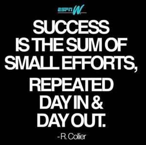 ... Sum Of Small Efforts,Repeated day In & Day Out ~ Achievement Quotes
