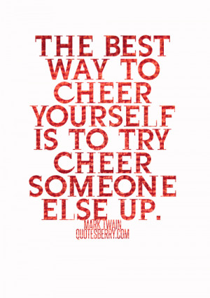 Cute Cheer Quotes Tumblr The best way to cheer yourself