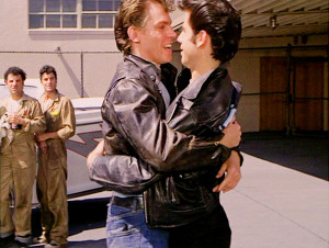 Kenickie (Jeff Conway) and Danny (John Travolta) in Grease