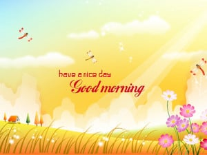 Animated greeting card for good morning