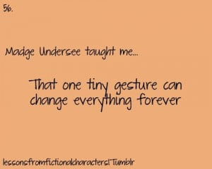 Madge Undersee taught me that one tiny gesture can change everything ...
