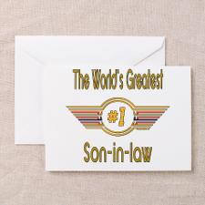 Number 1 Son-in-law Greeting Cards (Pk of 10) for