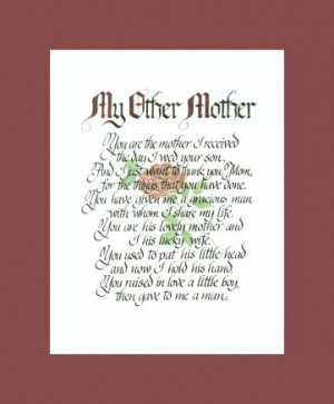 My Other Mother (gift for mother-in-law)
