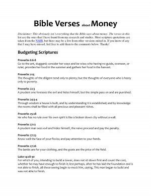 bible verses about money by lsy121925