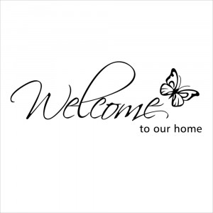 ID: 1651699940 Welcome to Our Home Vinyl Lettering Stickers Quotes ...