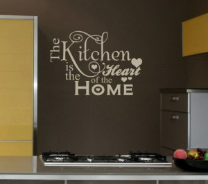 Heart Home Decal Shabby Chic Decor Vinyl Wall Lettering Words Quotes ...