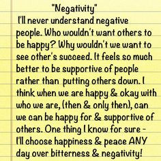 Negative People Stay Away..