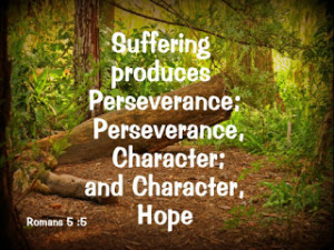 ... produces perseverance; perseverance, character; and character, hope