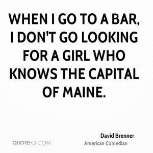 David Brenner Funny Quotes