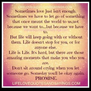 Sometimes love..