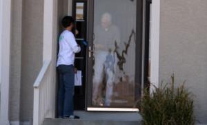 Going door to door for Teresa Hensley (D) in the 4th Congressional ...
