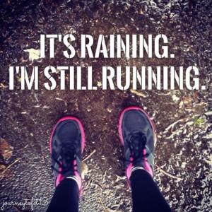 love running in the rain!