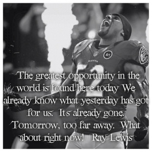 When this man talks, I listen. Ray Lewis