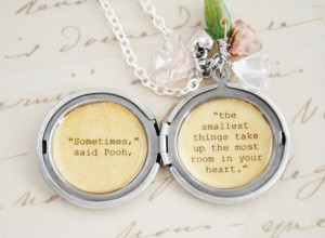 womens jewelry | Women's Locket - Friendship Jewelry - Winnie the Pooh ...