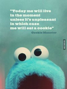 Taught to eat cookies when depressed or stressed at a very early age ...
