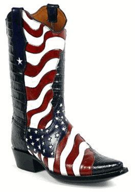 These Black Jack USA Flag Tooled Caiman Boots are spectacular! These ...