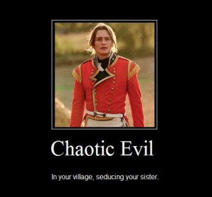 Chaotic Evil /George Wickham (Rupert Friend, 2005)