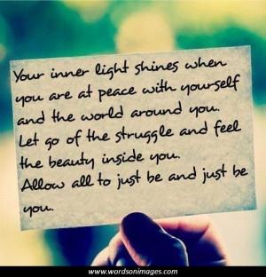 Inspirational quotes light