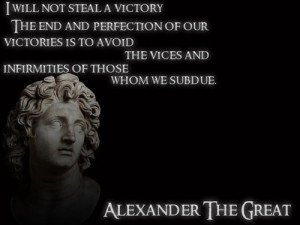 will not steal a victory. The end and perfection of our victories is ...