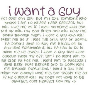 in what i want a guy quotes