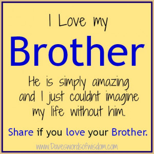 love my brother he is simply amazing and i just couldn t imagine my ...