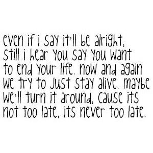 never too late three days grace quotes pictures never too late