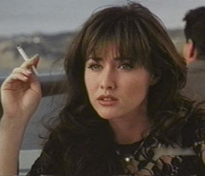 Shannen Doherty: Look, I have good aim. If I really wanted to run him ...