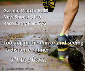 Looking in the mirror and seeing a distance runner: Priceless