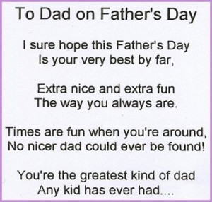 Happy Fathers Day Poems from Daughter Girlfriend Wife Son 2015