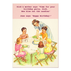 Vintage Retro Birthday Party Invitation