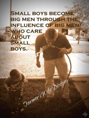 Farmer and son-