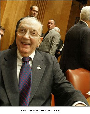 ex senator jesse helms former senator north carolina jesse helms died ...