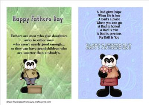 Two Fathers Day A5 Cards with Verses by Tom Curtis