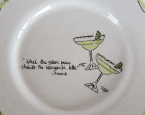 Appetizer server, bar server, snack plate, margarita quote, home decor ...