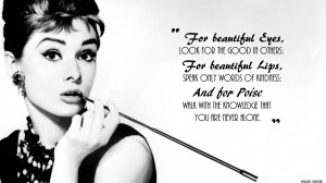 black white quotes Audrey Hepburn wallpaper background